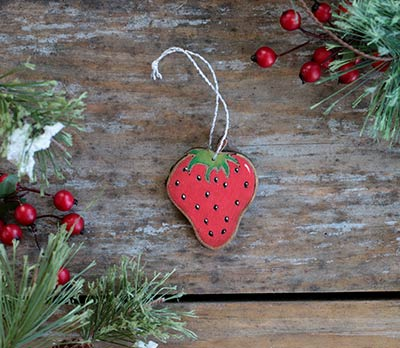 Strawberry Ornament (Personalized)