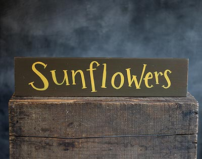 Sunflowers Wood Sign