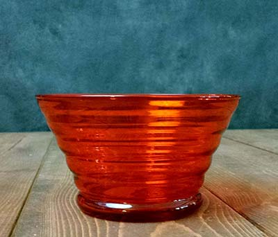 Beehive Glass Prep Bowl - Orange