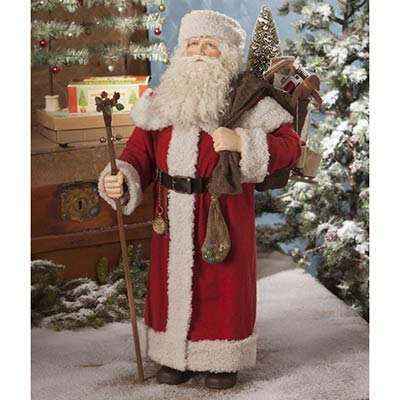 Santa With Bag of Toys - Large