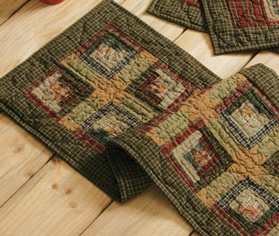 Tea Cabin Quilted Table Runner - 48 inch