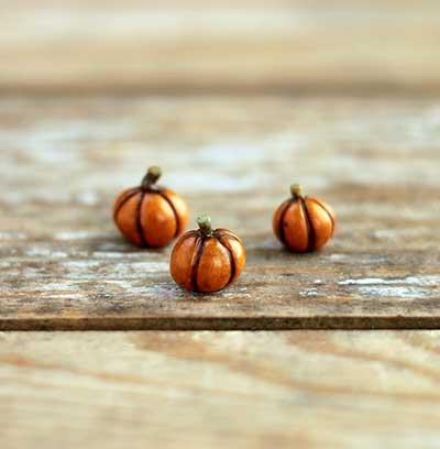 Miniature Pumpkin Figurine - Tiny