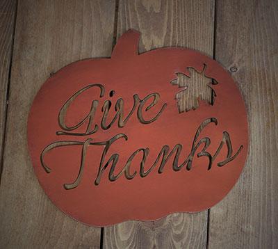 Give Thanks Pumpkin Wall Decor