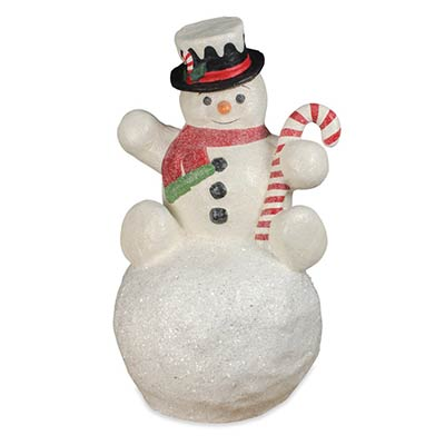 Large Paper Mache Snowman on Snowball