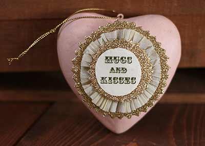 Token of Affection Heart Ornament - Hugs & Kisses