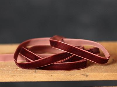 Brown Velvet Ribbon, 3/8 inch