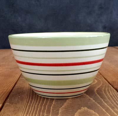 Winter Stripe Bowl