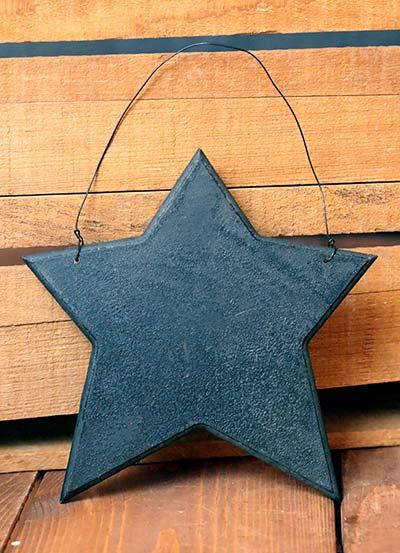 Wood Star Ornament - Black