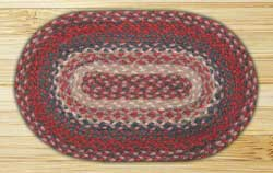 Burgundy Braided Tablemat (10 x 15 inch)