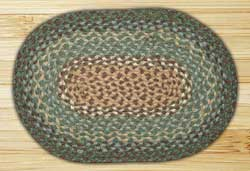 Dark Green Braided Tablemat (10 x 15 inch)