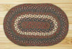 Burgundy and Grey Braided Tablemat