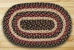Burgundy, Black, & Dijon Braided Tablemat