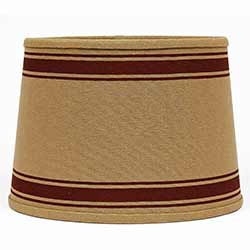 Bella Trace Red Stripe Lamp Shade - 10 inch Drum