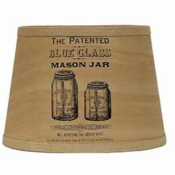 Mason Jar Lamp Shade - 10 inch Drum