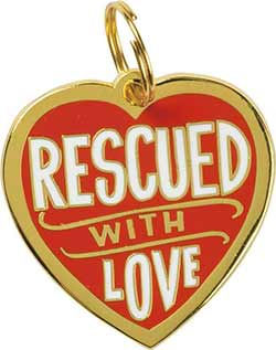 Rescued With Love Pet Charm