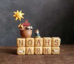 Noah's Ark Block with Doves