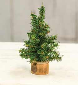 Tabletop Christmas Tree in Wood Slice - 6 inch