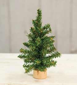 Tabletop Christmas Tree in Wood Slice - 8 inch
