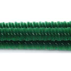 Emerald Green Chenille Stems, 6 mm (25 pack)