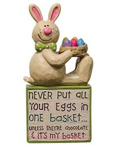 Eggs in One Basket Bunny Block