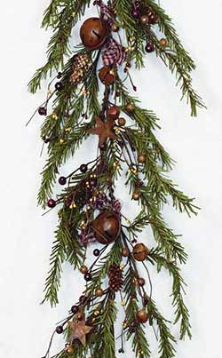 Primitive Holiday Pine Garland