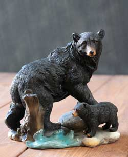Bear with Cub Figure