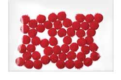Red Pom Poms, 5mm (100 pack)