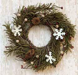 Snowflake & Pine Candle Ring