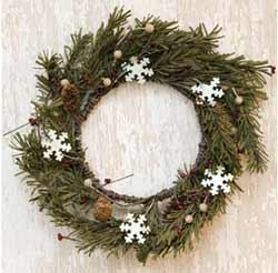 Snowflake & Pine 12 inch Wreath