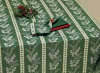 Noel Stripe Jacquard Tablecloth - 52 x 52