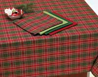 North Pole Plaid Tablecloth, 52 x 52 inch