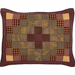 Heritage Farms Primitive Check Quilted Sham Standard