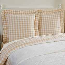 Annie Buffalo Tan Check Fabric Euro Sham