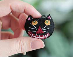 Mini Black Cat Ornament