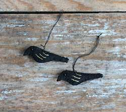 Mini Crow Ornament