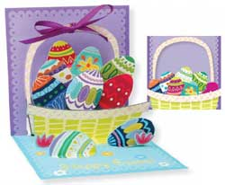 Easter Egg Basket Pop-up Card