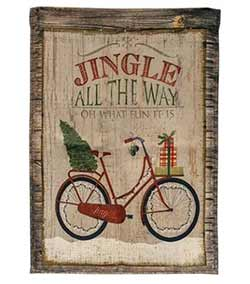 Christmas Bicycle Garden Flag