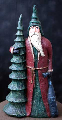 Santa with Tall Tree & Sack (Limited Edition)