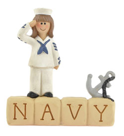 Navy Block with Girl