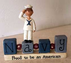 Navy Bead Block