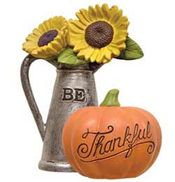 Be Thankful with Pumpkin and Sunflowers