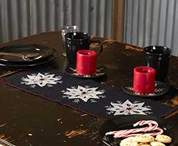 Christmas Snowflake Felt 24 inch Table Runner