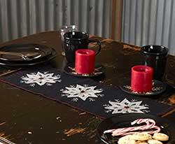 Christmas Snowflake Felt 24 inch Table Runner