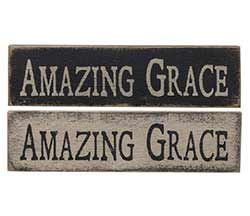 Amazing Grace Primitive Wood Sign