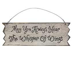 Whisper of Wings Primitive Wood Sign