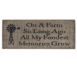 On A Farm Wood Sign