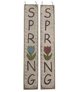 Spring Vertical Sign