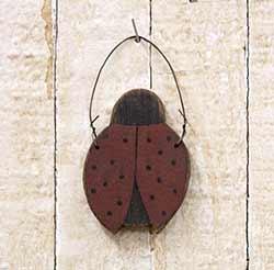 Primitive Ladybug Ornament
