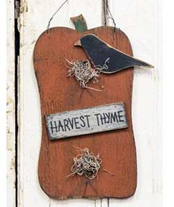 Harvest Thyme Pumpkin with Crow