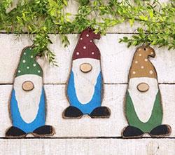 Rustic Wood Gnome Ornament